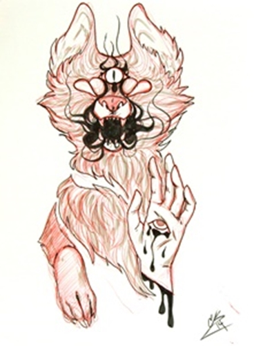 Picture of Wolf with Third Eye