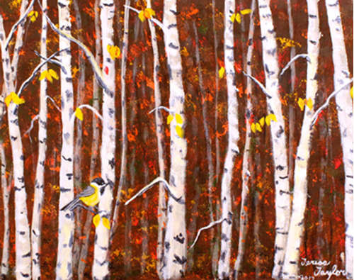 Picture of Hiding in the Birch Forest