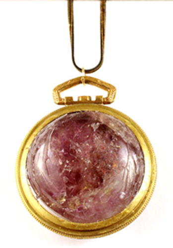 Picture of Amethyst Pocket Watch Necklace