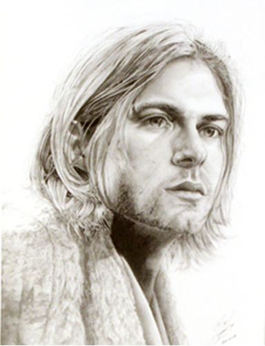 Picture of Kurt Cobain Print