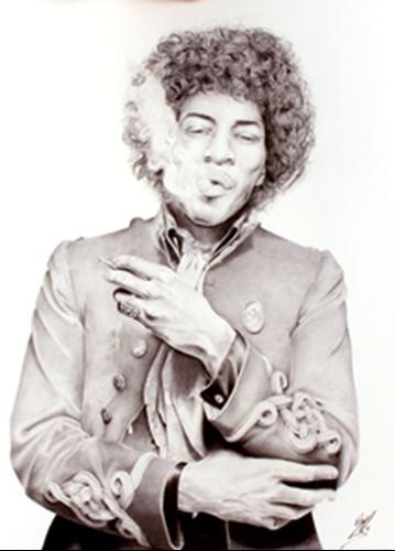 Picture of Jimi Hendrix Print