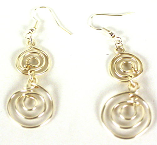 Picture of Double Spiral Earrings - Silver