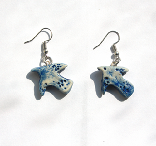 Picture of Blue Bird Earrings