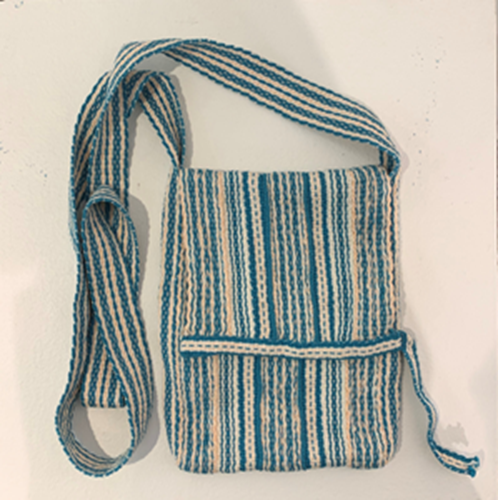 Picture of Turquoise and Cream woven bag